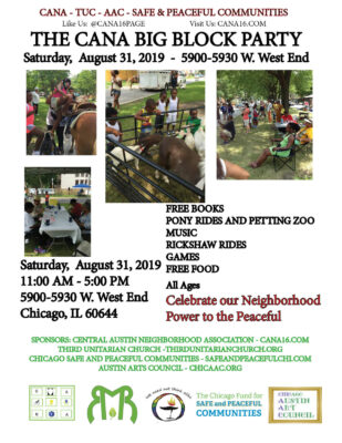 CANA Big Block Party Saturday August 31, 2019